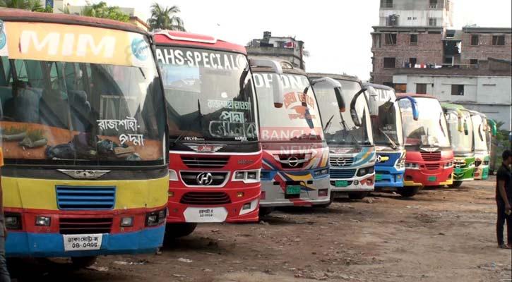 করোনা: রাজশাহীতে দূরপাল্লার বাস চলাচল বন্ধ