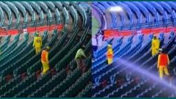 দর্শক শূন্য গ্যালারিতে বল খুঁজতে যেতে হচ্ছে ক্রিকেটারদের, দেখুন ভিডিও