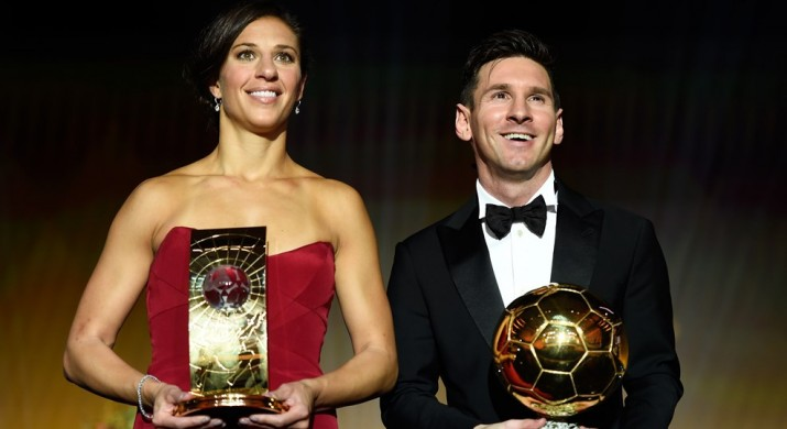 Messi & Lloyd at FIFA Ballon d'Or 2015